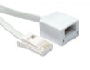 5m BT Extension Cable - Flat Cable (White) - 6 Way